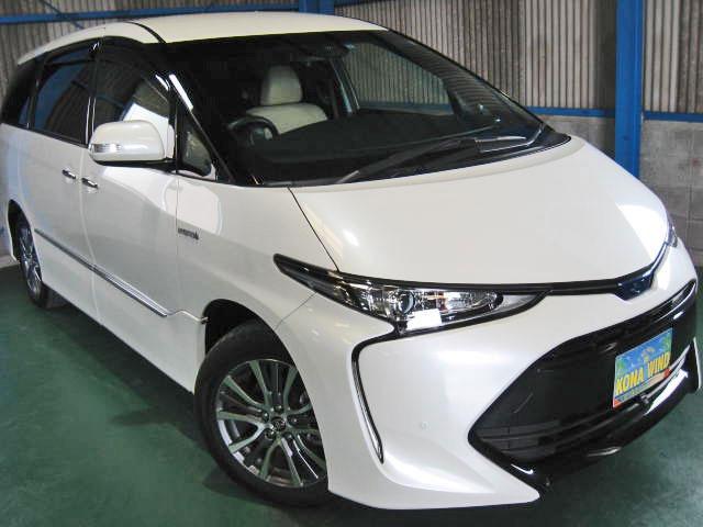 トヨタ エスティマハイブリッド 2.4 アエラス スマート 4WD 全OP革WTV寒冷PBドアCソナ電格シ-トサイドA