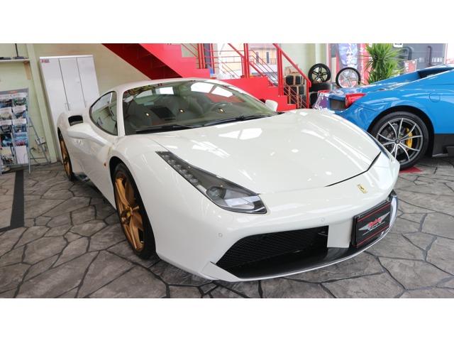 2016y;Ferrari488GTB(ビアンコアブス)正規ディーラー車が新入庫致しました。