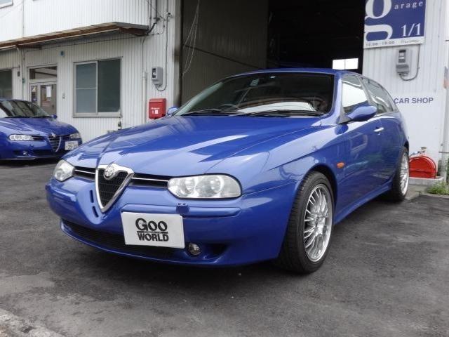 アルファ ロメオアルファ156スポーツワゴン2.5 V6 24V QシステムOZ17AW・キャメルレザー・ETC・新品タイヤ静岡県