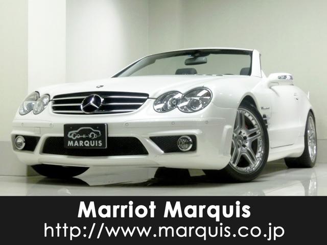 AMGSLクラスSL55ディーラー車 パールホワイト 黒革シート東京都