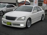 トヨタクラウンアスリート3.0黒革シート 車高調 サンルーフ広島県