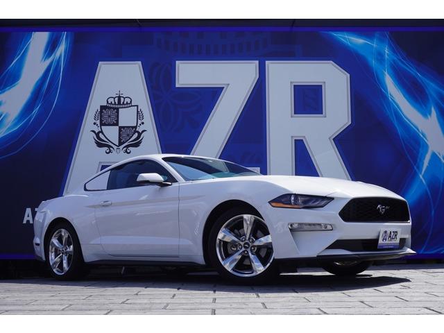 2018y フォードマスタング プレミアム ファストバック エコブースト 人気のオックスフォードホワイト アダプティブクルーズコントロール オプション19インチアルミホイール 入庫いたしました!
