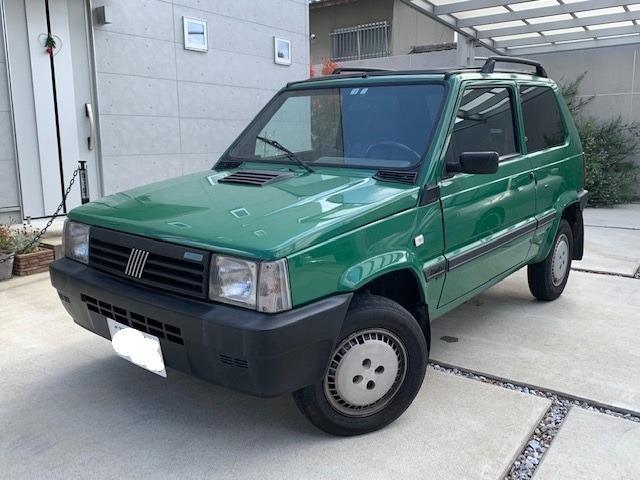 ☆希少141パンダ4X4スタイル2WD車!Wキャンバストップ☆彡クーラー付!