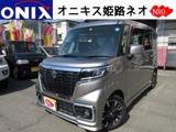 スズキスペーシア660 カスタム ハイブリッド XS新車フルセグナビBカメラ ETCマットバイザ-兵庫県