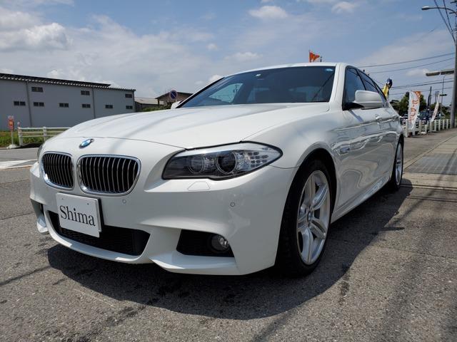 BMW5シリーズ523i エクスクルーシブスポーツ茶革シート 19インチアルミ 限定車愛知県