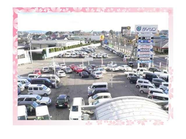大型展示場。(3000坪)軽自動車・国産高級車・登録済未使用車・高級外車・新車・中古車・全車種取り扱い。