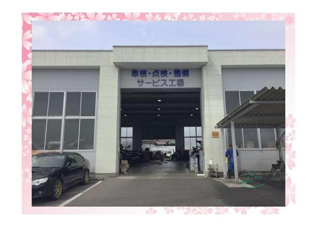 車検センター工場。指定工場です。指定工場とは国から認可を受けて分解から車検まで全て自社で請け負うことのできる証です。
