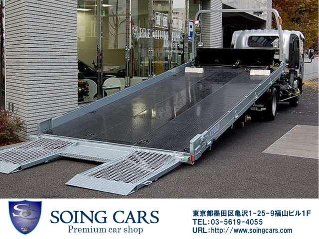 緊急時もご安心、自動車専用積載車を常に準備しております。